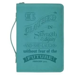 Bible Cover - She is Clothed in Strength & dignity