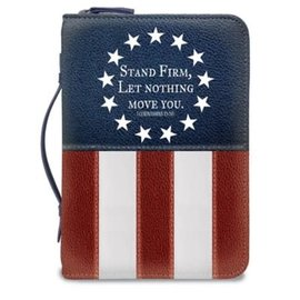 Bible Cover - Stand Firm, Flag