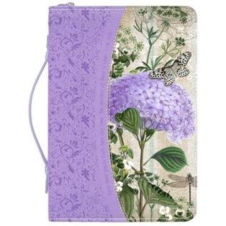 Bible Cover - Purple Hydrangea