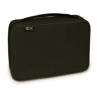 Bible Cover - Black Canvas Compact