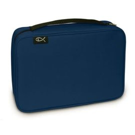 Bible Cover - Navy Canvas Compact