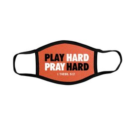 Youth Face Mask: Play Hard, Pray Hard