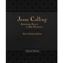 Jesus Calling: Enjoying Peace in His Presence, Note-taking Edition (Sarah Young), Black Leathersoft