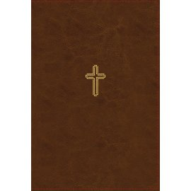 NASB Giant Print Thinline Bible, Brown Leathersoft, Indexed
