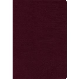 NASB Large Print Thinline Bible, Burgundy Bonded Leather, Indexed