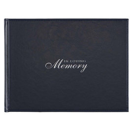 Guest Book - In Loving Memory, Navy