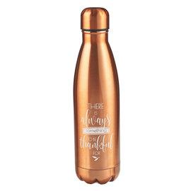 Stainless Steel Water Bottle - Grateful, Bronze