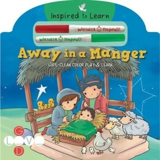 Away in a Manger: Wipe-Clean Color Play & Learn