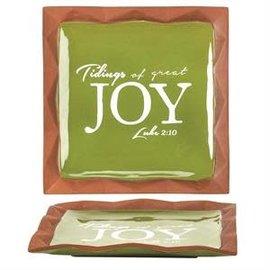 Plate - Tidings of Joy, Terra Cotta
