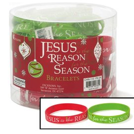 Silicone Bracelet - Jesus is the Reason for the Season, Red or Green