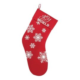 Stocking - Joy to the World, Red