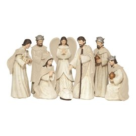 Nativity Set - 8 Piece Resin, 6.75""