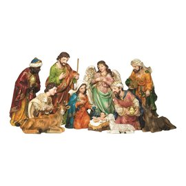 Nativity Set - 11 Piece Resin, 8""