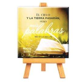 Mini Canvas - Mateo 24:35 (9cm)