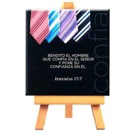 Mini Canvas - Jeremias 17:7 (9cm)