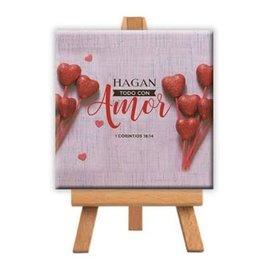 Mini Canvas - 1 Corintios 16:14 (9cm)