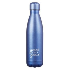 Stainless Steel Water Bottle - Grace Upon Grace (17 Oz)