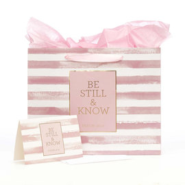 Gift Bag - Be Still and Know, with Card, Large