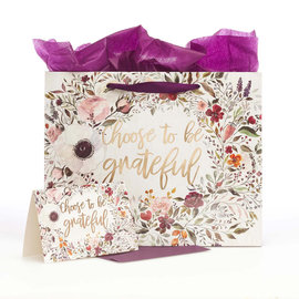 Gift Bag - Choose to be Grateful, with Card, Large