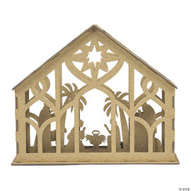 Gold Glitter Nativity Tabletop Decor