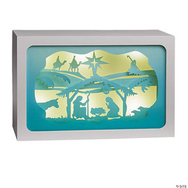 Nativity Light-Up Shadow Box