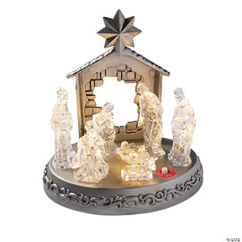 LED Manger Nativity Scene with Music