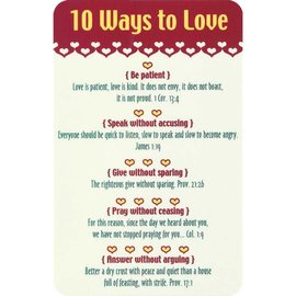 Pocket Card - Ten Ways to Love