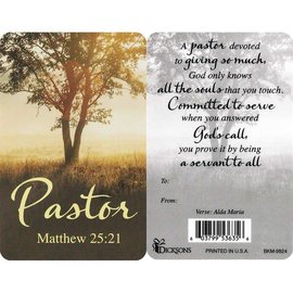 Pocket Card - Pastor