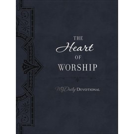 The Heart of Worship: MyDaily Devotional, Navy Leathersoft