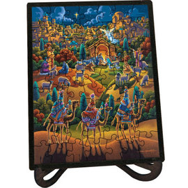 Nativity Picture Perfect Puzzle (60 pieces) w/frame & stand