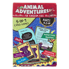 Card Game - Animal Adventures for Kingdom Kids, 5-in-1