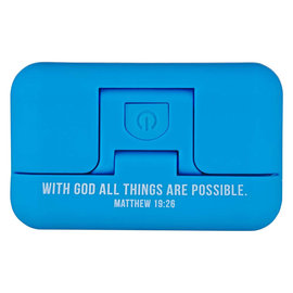 Clip-On Book Light - With God, Blue