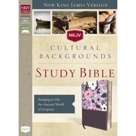 NKJV Cultural Backgrounds Study Bible, Purple Leathersoft