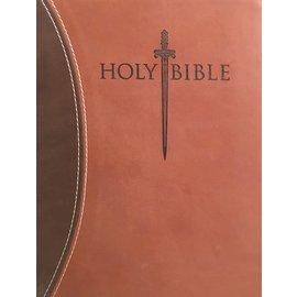 KJVer Large Print Personal Size Sword Study Bible, Brown Ultrasoft