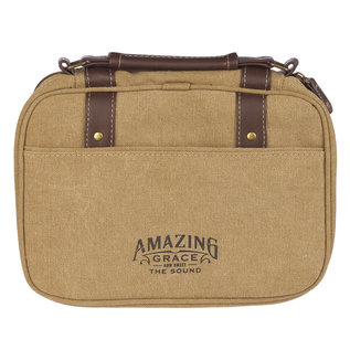 Bible Cover - Amazing Grace, Tan Canvas