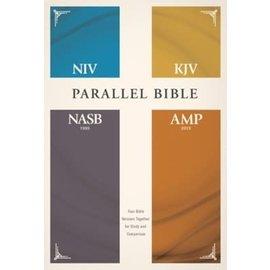 NIV/KJV/NASB/Amplified Parallel Bible, Hardcover