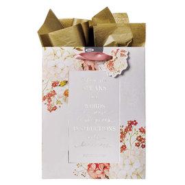 Gift Bag - When She Speaks, Pink,  Medium