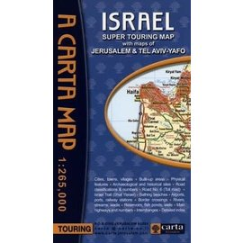 A Carta Map: Israel, Super Touring Map