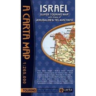 A Carta Map: Israel, Super Touring Map
