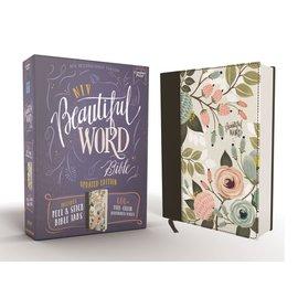 NIV Beautiful Word Bible, Floral Cloth over Board, Peel/Stick Bible Tabs