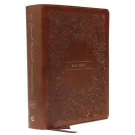 KJV Journal the Word Reference Bible, Brown Leathersoft