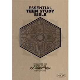 NKJV Essential Teen Study Bible, Gray Cork LeatherTouch
