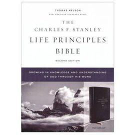 NASB Charles F. Stanley Life Principles Bible 2, Black Leathersoft