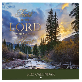 2022 Small Wall Calendar - Trust in the Lord