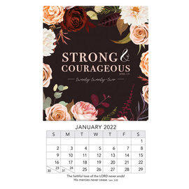 2022 Mini Magnetic Calendar - Strong & Courageous