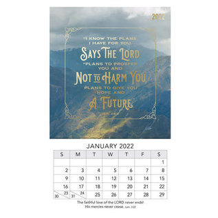 2022 Mini Magnetic Calendar - I Know The Plans