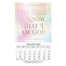 2022 Mini Magnetic Calendar - Be Still