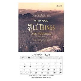 2022 Mini Magnetic Calendar - With God