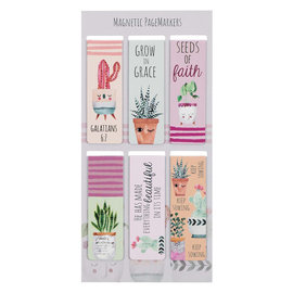 Magnetic Bookmarks - Succulent Garden