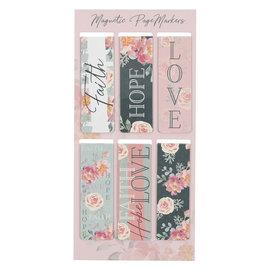 Magnetic Bookmarks - Vintage Faith Hope Love